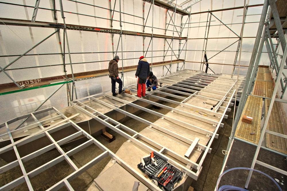Baubeginn des nächsten Hausboots