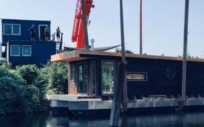 Das erste Hausboot ist vom Stapel gelaufen